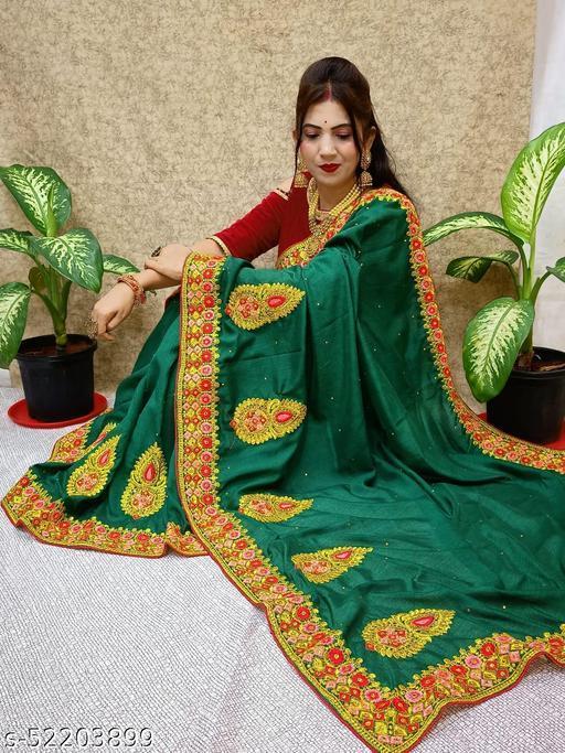 Vichita Silk With Heavy Embroidered Work