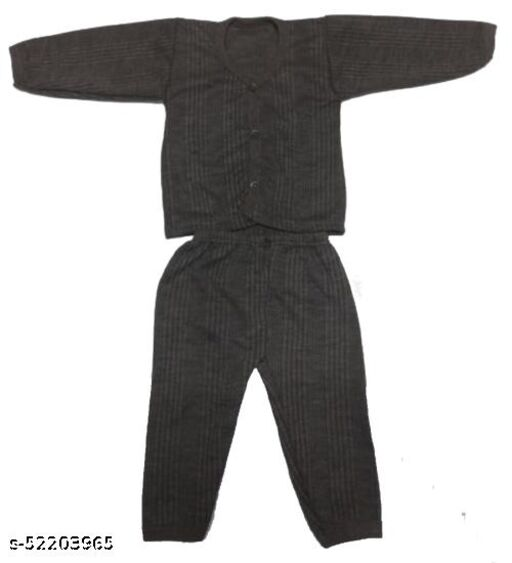Kids Winter Wear Thermal Top and Bottom Set for Baby Boys and Girls May Vary Colour (Set Of 1)