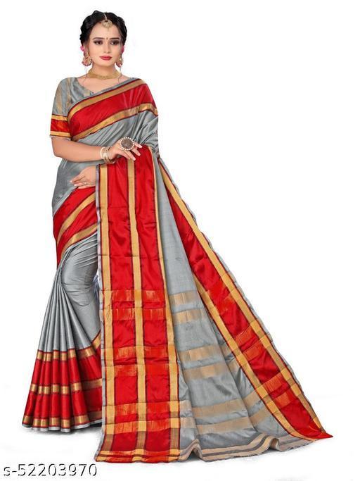 ganga shree cotton blend saree