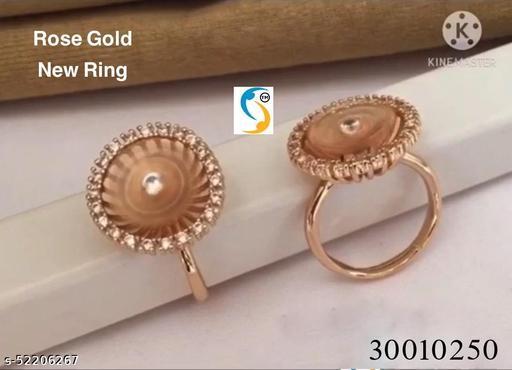 * New design rose gold ad diamond flower shape designer adjustable beautiful finger ring. *