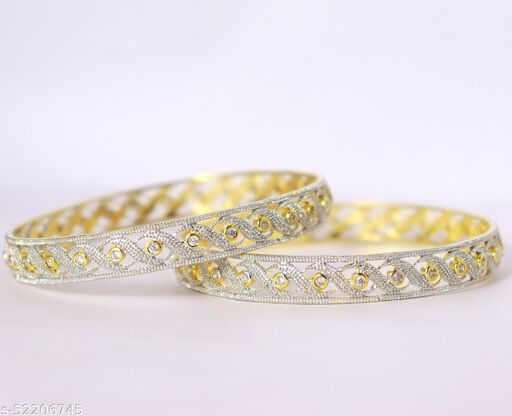 American Diamond Gold Plated Jewellery Bangles for Women and Girls