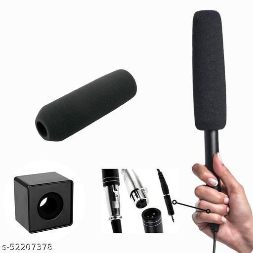 WON Mic Shotgun Condenser Microphone to Interview for Mobile Phone (Black)