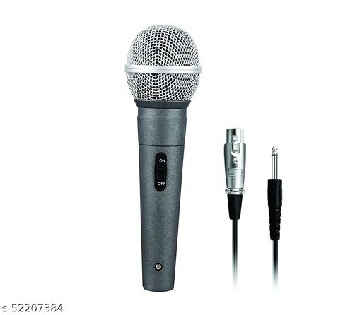 WON Brand Professional Dynamic Cardioid Vocal Wired Microphone with 5 MTR XLR Cable (Black)