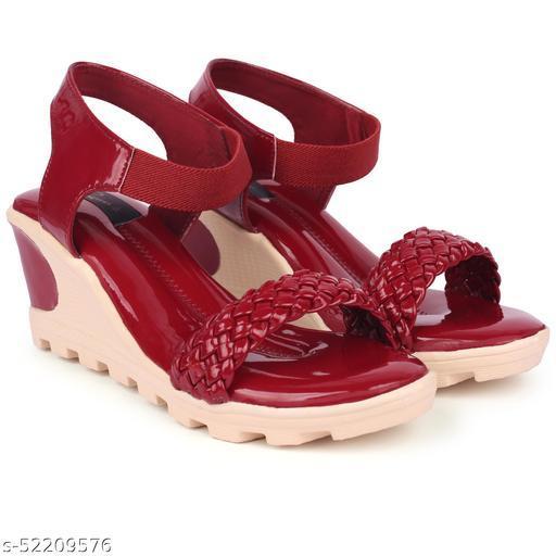 Stylish high heel patent wedges by Rimezs