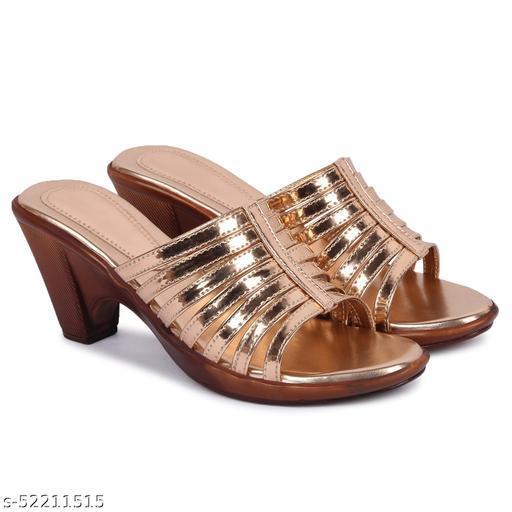 Fashimo Women/ Girls Heels Z-7-Golden