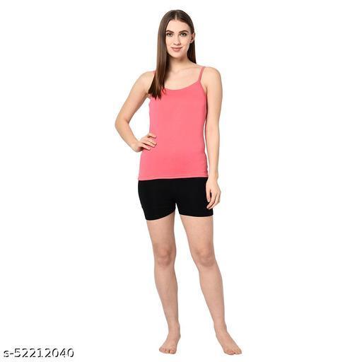 Le Espresso Women's Viscose Lycra Shorts For Under Dresses - Black
