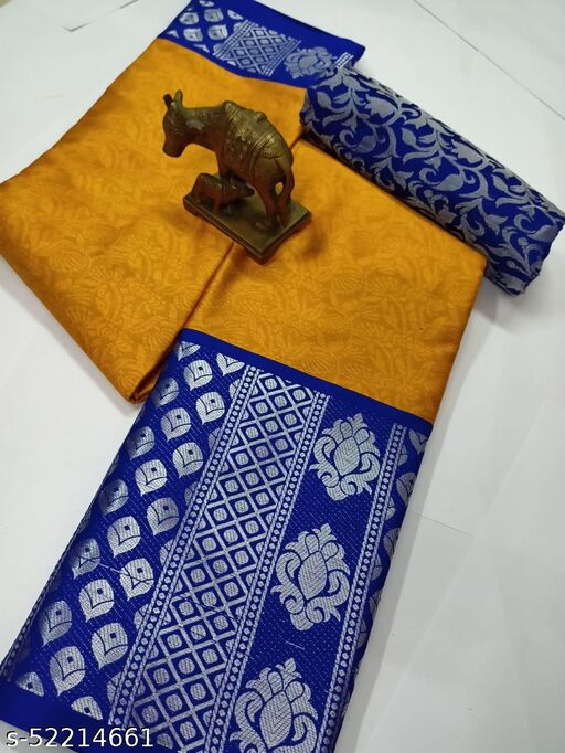 Made in India Designer Soft silk South indian maharastrain kanchivaram saree with tussle and fancy blouse piece
