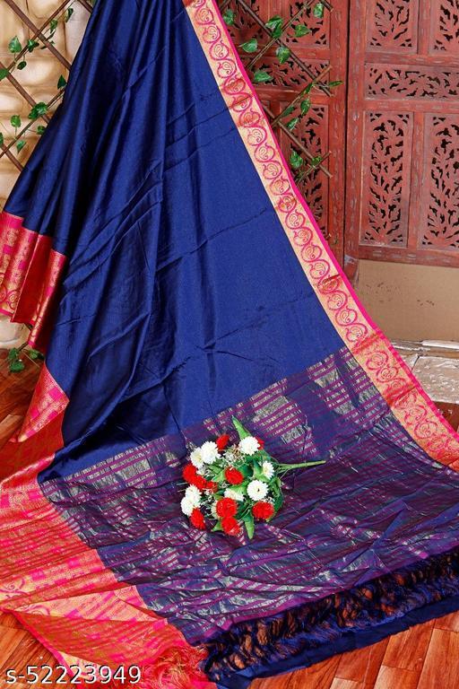 Banarasi Silk Zari Border Saree
