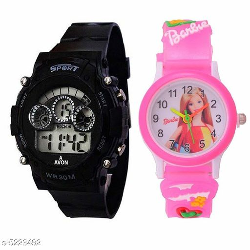 Beautiful Watches Combo For Kids  Boys And Girls