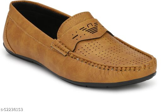 Peclo Tan Loafer shoes Loafers For Men(9964)