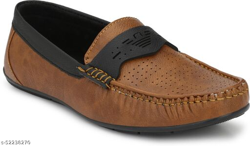 Peclo Brown Loafer shoes Loafers For Men  (9964)