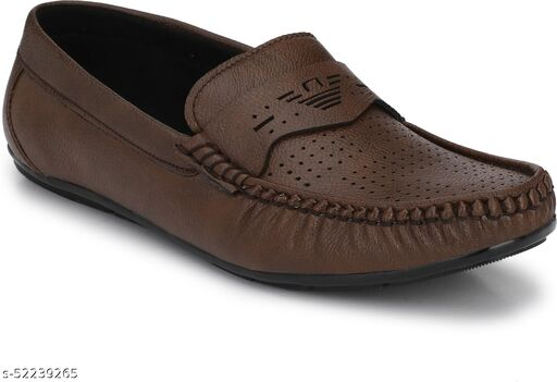 Peclo Coffee Loafer shoes Loafers For Men(9964)