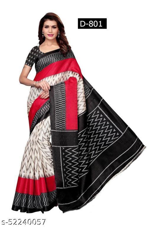 Beautiful printed cotton silk saree e pattu Sarees