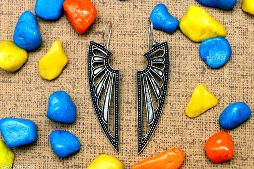 Nisha Enterprises Silver Jhumki Earrings Studs for Women & Girls