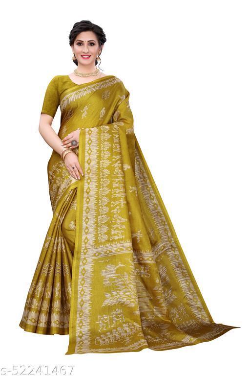 Traditional Khadi Cotton Sari with Unstitch Blouse Piece