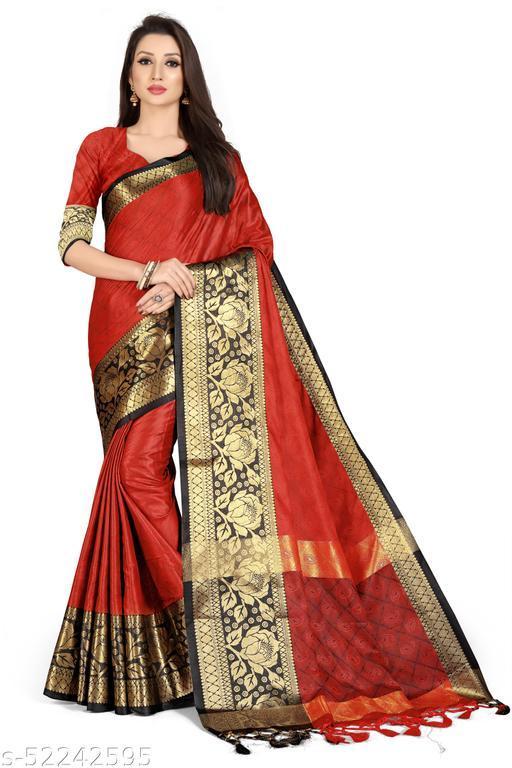 Greeva LifeStyle Present Beautiful Jeaqurd Designer Silk Collection
