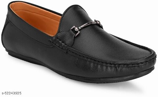Peclo Black Loafer Shoe for Mens Loafers For Men(1064)