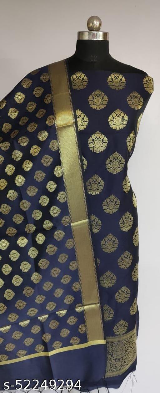 (1Navy Blue) Fabulous Banarsi Silk Suit And Dress Material