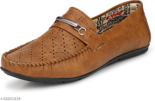Peclo Tan Loafer Shoes For Men(9920)