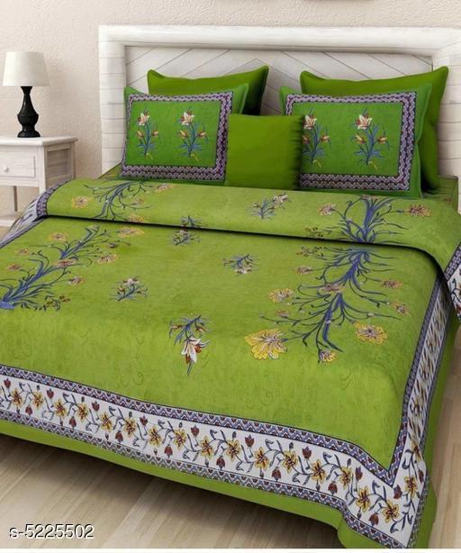 Trendy Heavy Cotton100x90 Queen Double Bedsheet