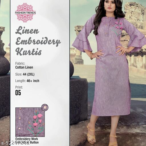 Hi Fashion latest designer stylish Women's ethnic Kurti with Embroidery in Best Price