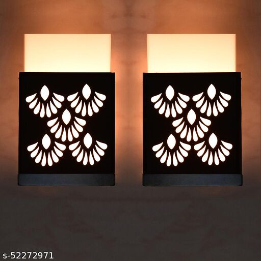 EBIA  Wooden Modern Design Wall Lamp Wall Light suitable for Living Room,Foyer,Bedroom,Hallway(pack of 2)