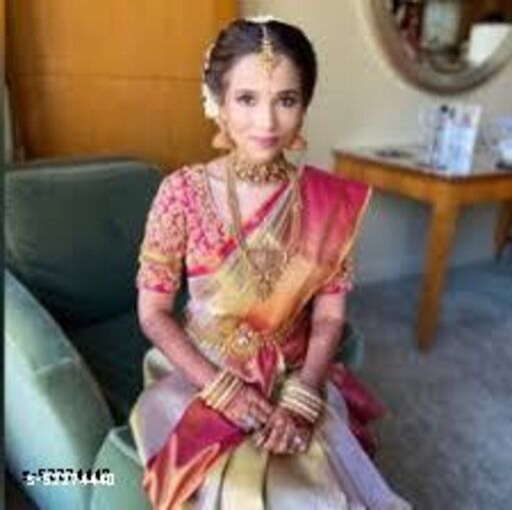 Cotton slub Womens Saree