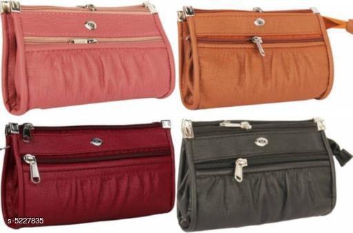 Attractive Women's Multipack Multicolor Faux Leather/Leatherette Clutch
