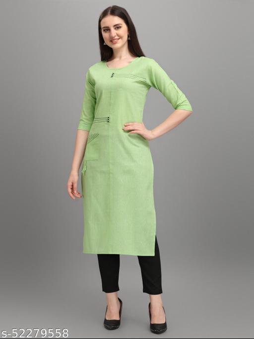 Arya casual wear  green color kurti