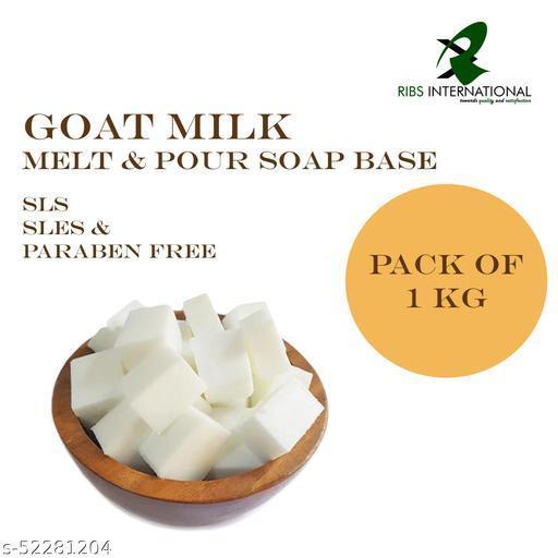 Goat Milk Melt and Pour Soap Base, SLS, SLES & Paraben Free - 1 kg