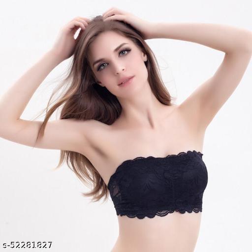 Women's Lace Tube Strapless Padded Bra