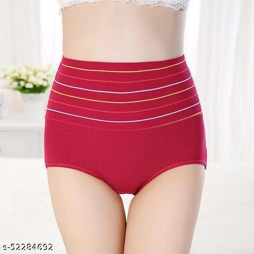 Women's Cotton High Waist Tummy Control Panty