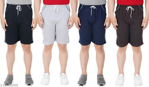 Adveith Men Cotton Shorts Pack of 4