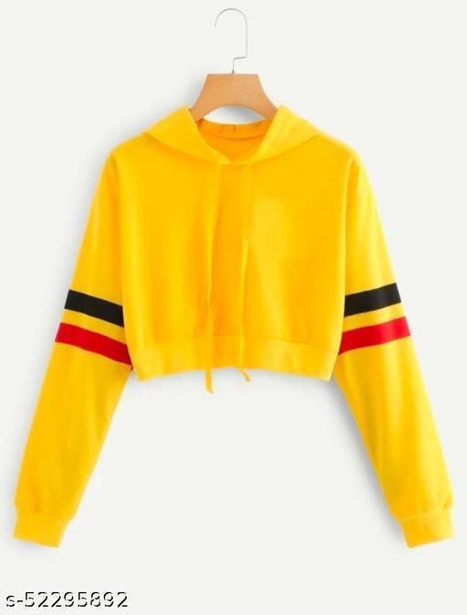 PRATHNA Womens Crop Hoodie / Sweatshirts