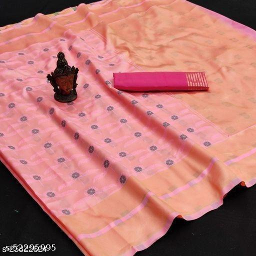 Designer Bollywood Stylish Banarasi Saree with Blouse Piece for Women