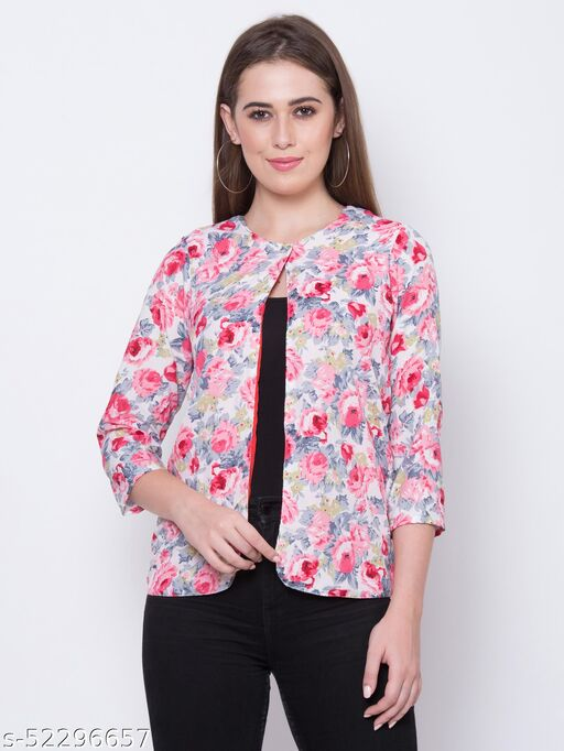Adyuth Women's Floral Printed Full Sleeve Summer Shrugs
