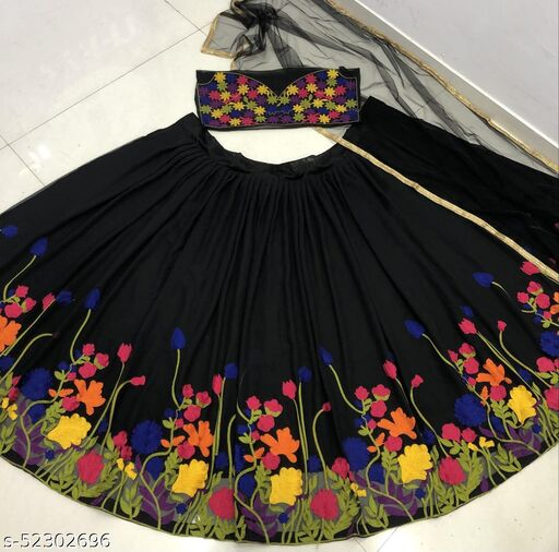 GEORGETTE LEHNGA CHOLI WITH EMBROIDERY WORK