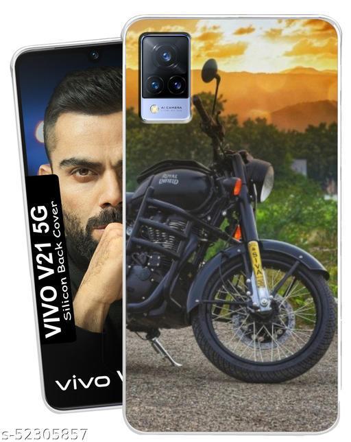 ChetraStore Soft Silicon Printed Back Cover For Vivo V21 5G