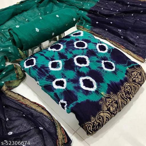 New Tranding Bandhani Suit Zeepkart