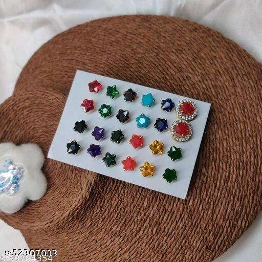 104 elite colorful earrings