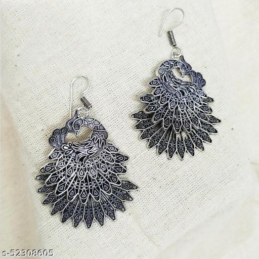 Peacock Layered Earrings