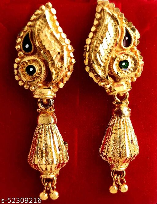 Fancy stylish Gold plated Golden Jhumka/jhala earring Gold Design (MG491 J)