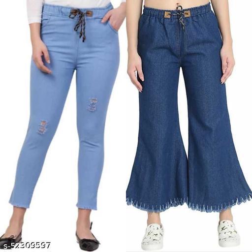 Trendy Graceful Women Jeans