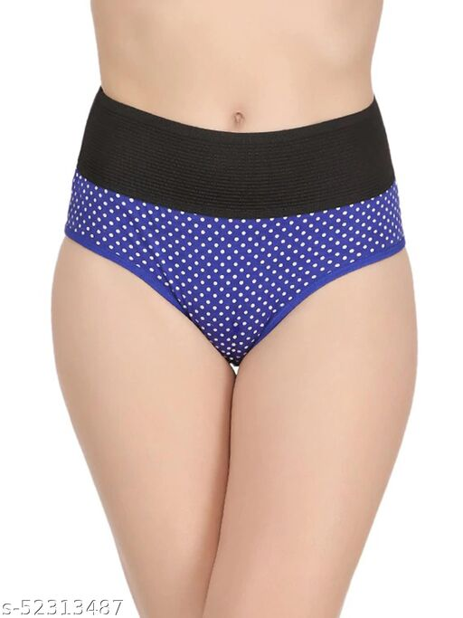 Women Cotton Silk Hipster Multicolor Panties Combo -100% Cotton ( Pack of 1 ) ( Color : Blue ) ( Pattern : Solid )