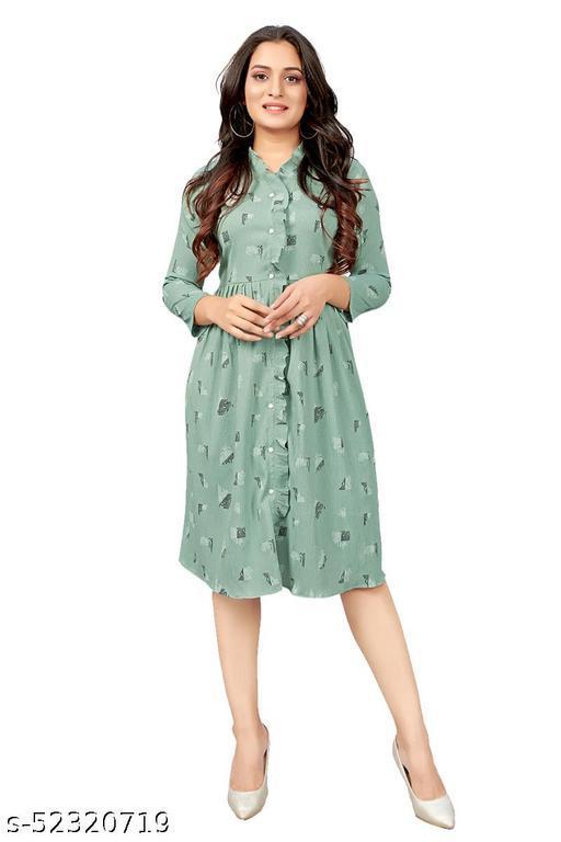 Ritsila Women's Fit And Flare Fancy Wetsren Cotton midi Dress