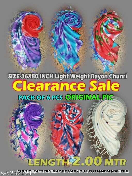 Rayon Lightweight 36x80 inches Dupatta Scarf Factory Sale