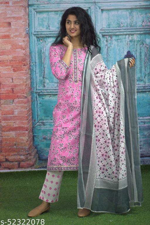 Attractive Pure Cotton dupatta set
