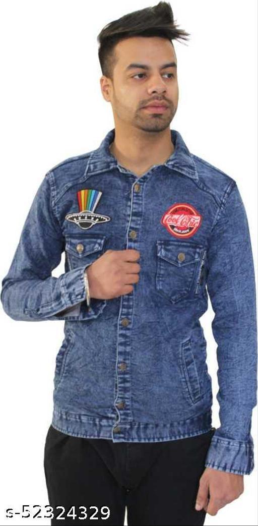 Mens Full Sleeve Latest Design Denim Jacket.