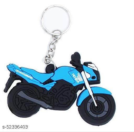 Multicolour Hard Rubber Design Keychain for Car Bike Home Keys for Men and Women