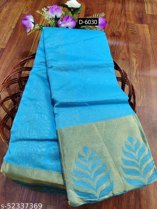 Shivayenterprise Womens Cotton Silk Banarasi Jacquard Saree